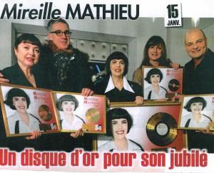Disque d'Or Mireille Mathieu