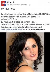Félicitation Julie JOURDAN