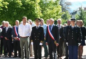 Prise de fonctions du Sous-préfet de Barcelonnette Richard Mir 17 août 2015  Photo Sylvie Arnaud