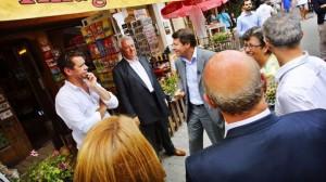 Christian Estrosi à la rencontre des Barcelonettes