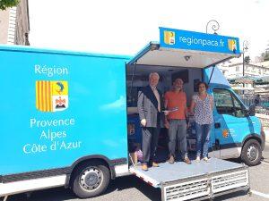 Stand Région PACA Marché de Sisteron