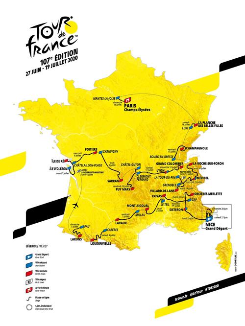 SITEDSCARTE TOUR DE FRANCE 2020