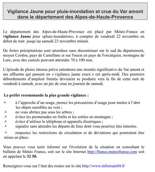 PREFECTURE DES ALPES DE HAUTE-PROVENCE